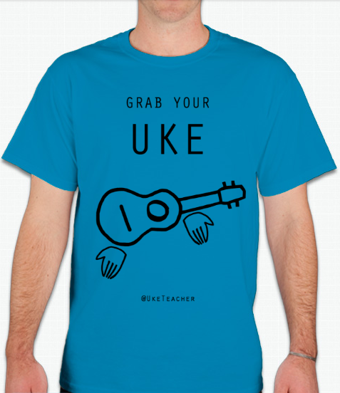 Grab Your Uke! Unisex T-Shirt (Baby Blue)
