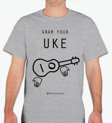 Grab Your Uke! Unisex T-Shirt (Athletic Heather)