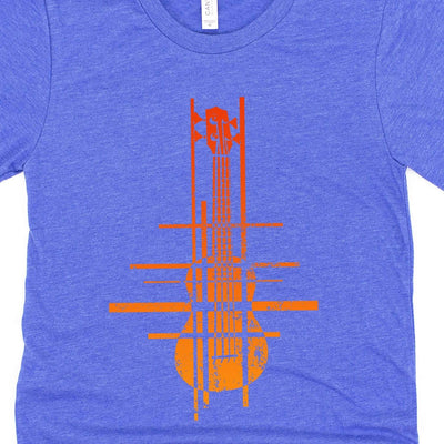 www.UkuleleTees.com Shirts Abstract Modern Orange Ukulele Unisex T-Shirt