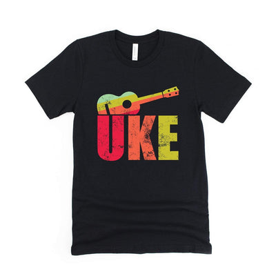 www.UkuleleTees.com Shirts Distressed Big UKE Unisex T-Shirt