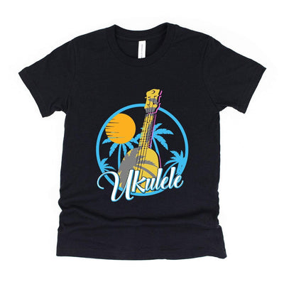 www.UkuleleTees.com Shirts Kids Classic Tropical Ukulele Youth Unisex T-Shirt