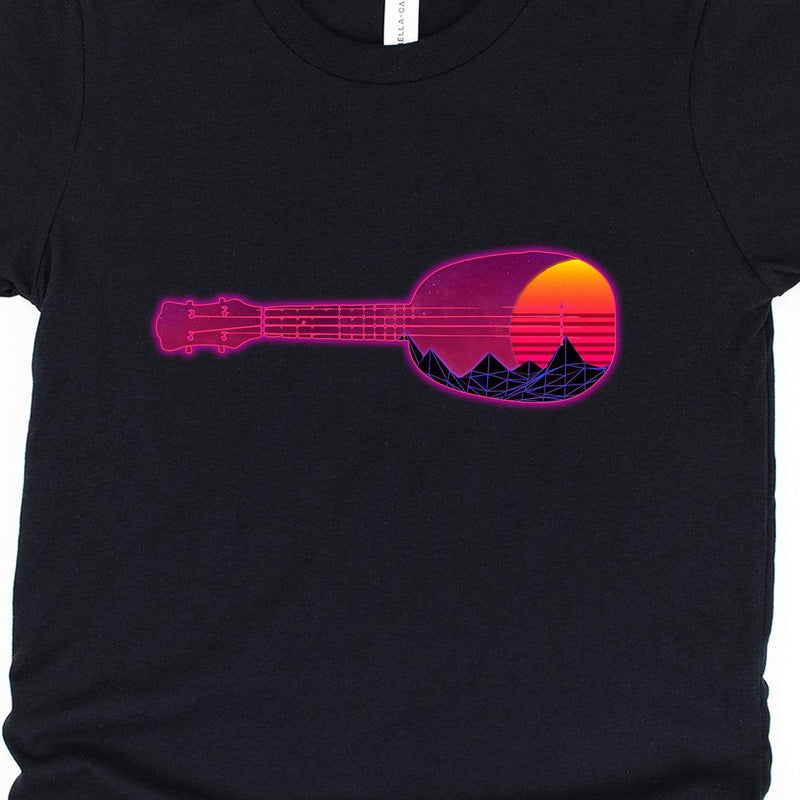 Kids Hypercolor Sunset Ukulele Youth Unisex T-Shirt