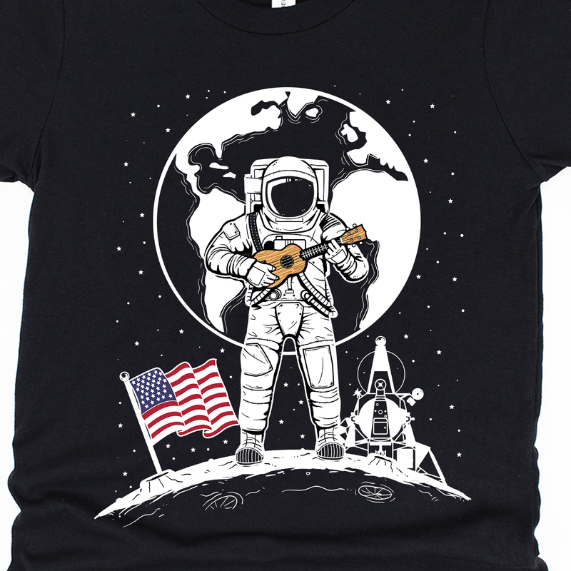 Kids One Small Uke For Man 50th Anniversary Moon Landing Unisex T-Shirt