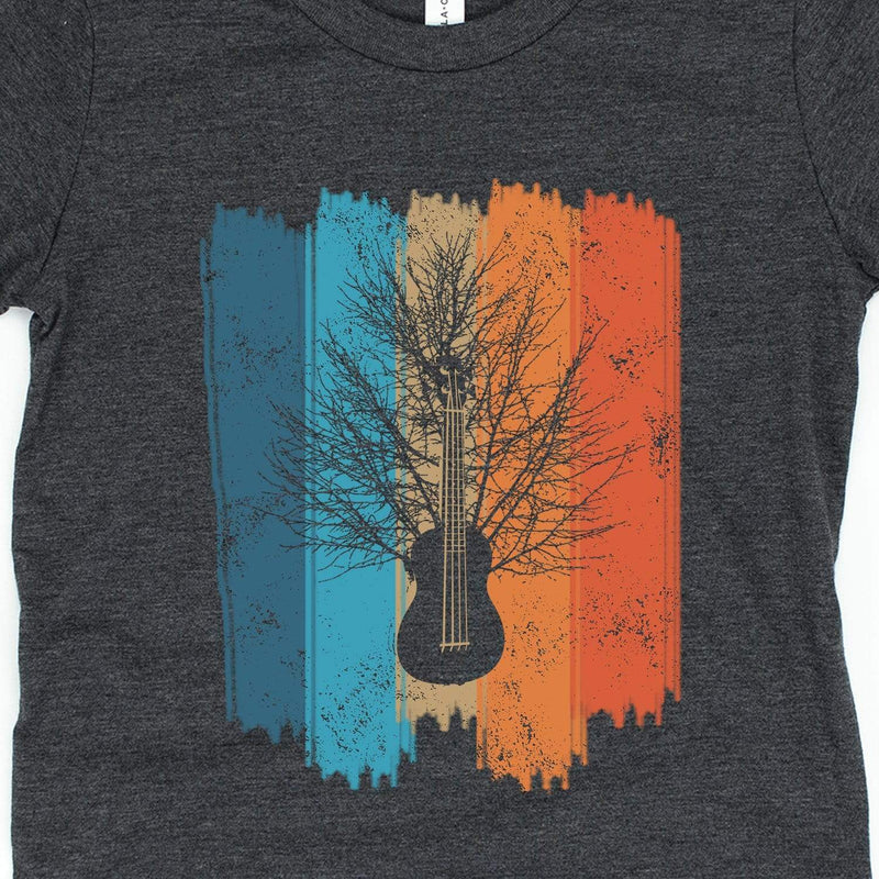 www.UkuleleTees.com Shirts Kids Vintage Ukulele Tree Youth Unisex T-Shirt