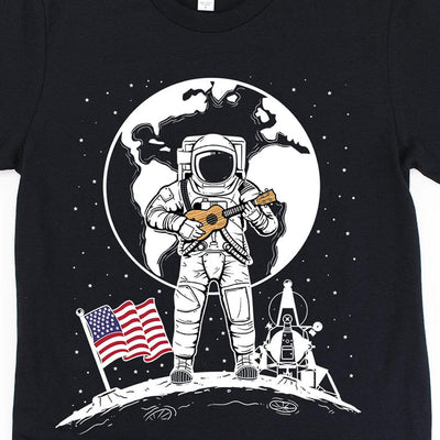 www.UkuleleTees.com Shirts One Small Uke For Man