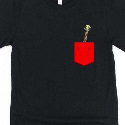 www.UkuleleTees.com Shirts Red Pocket Ukulele Unisex T-Shirt