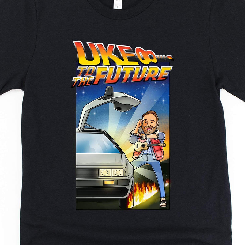 www.UkuleleTees.com Shirts Uke To The Future Limited Edition Unisex T-Shirt