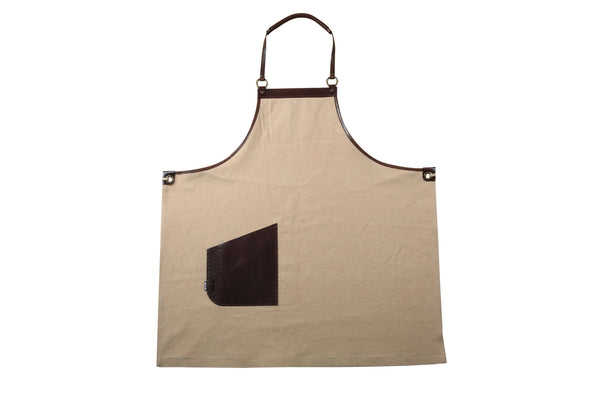 Beige Canvas Apron