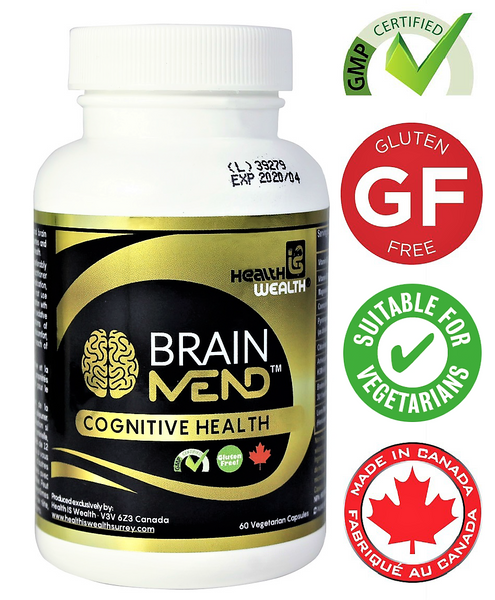 BRAINMEND premium natural health supplement, health is wealth surrey bc cognitive health memory supplement memory improvement memory enhancement