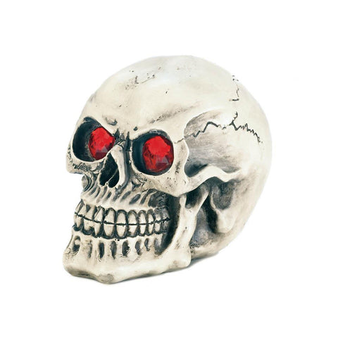 SKULL WITH LIGHT-UP EYES
