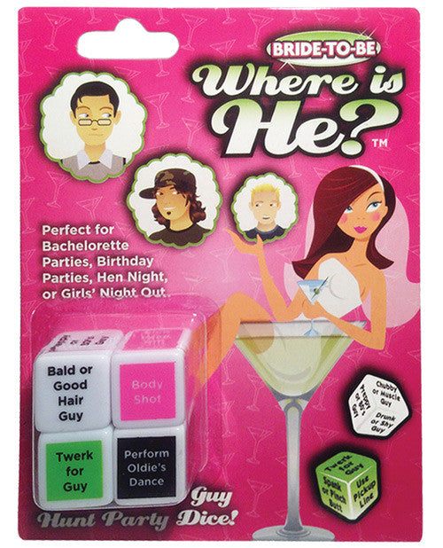 Bride-to-be Where is He Dice Game