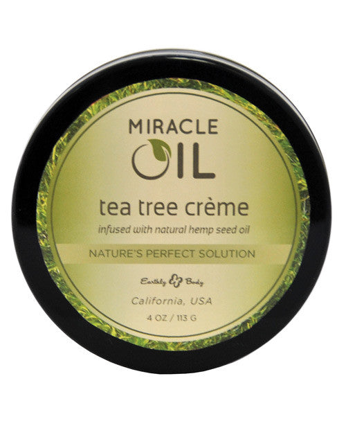Earthly Body Miracle Oil Creme - 4 oz Tea Tree