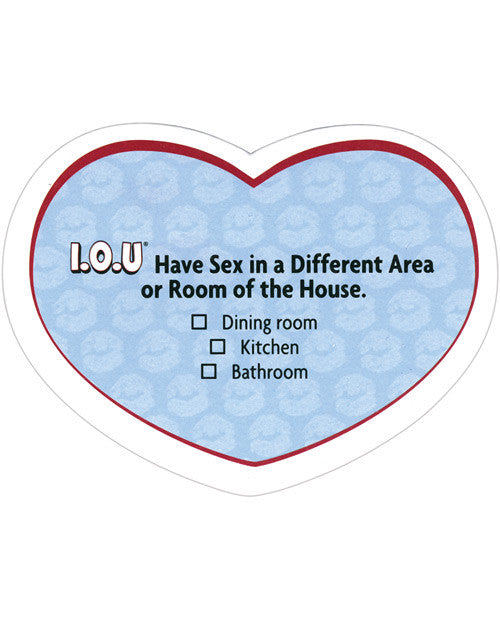 I.O.U. Sex Stickies for Him - The Ultimate Sexual Sticky Notes