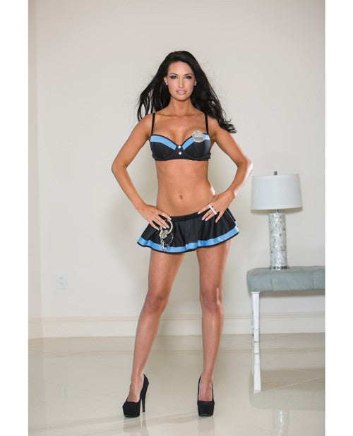 Police Skirt Set Blue MD