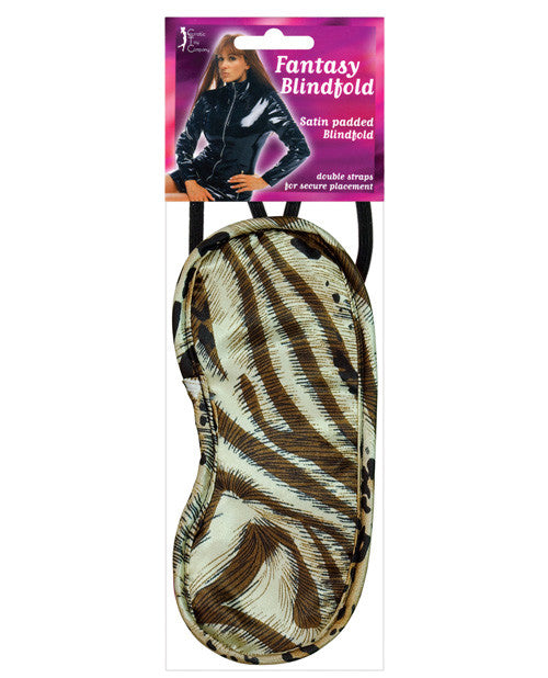 Satin Fantasy Blindfold 2 Strap - Animal Print