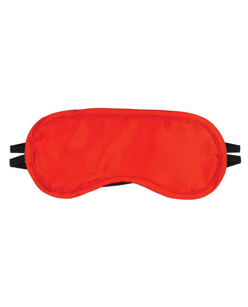 Satin Fantasy Blindfold 2 Strap - Red