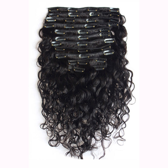 Natural Wave Clip Ins 9pcs
