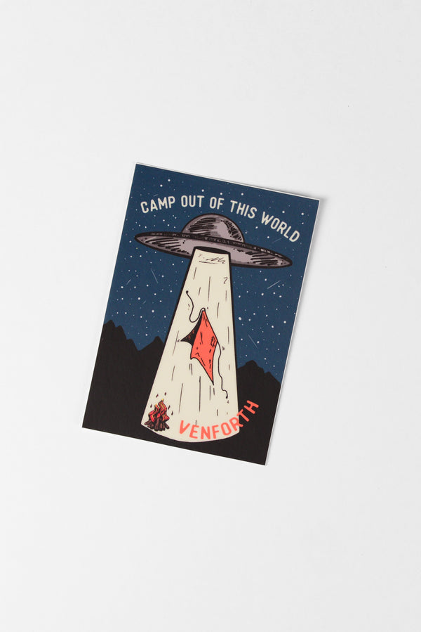 Camp Abduction Sticker