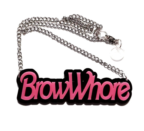 Brow Whore Necklace - Pink