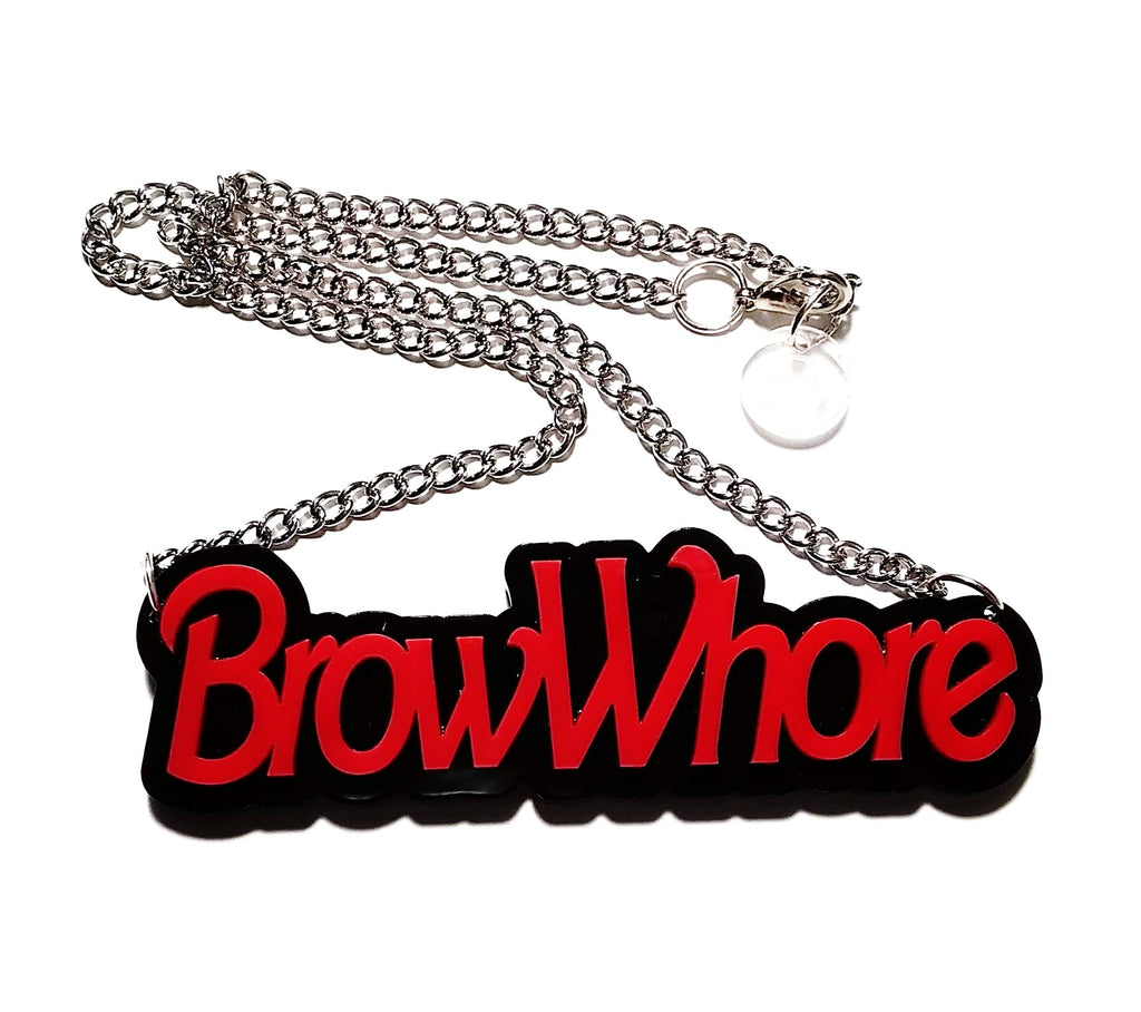 Brow Whore Necklace - Red
