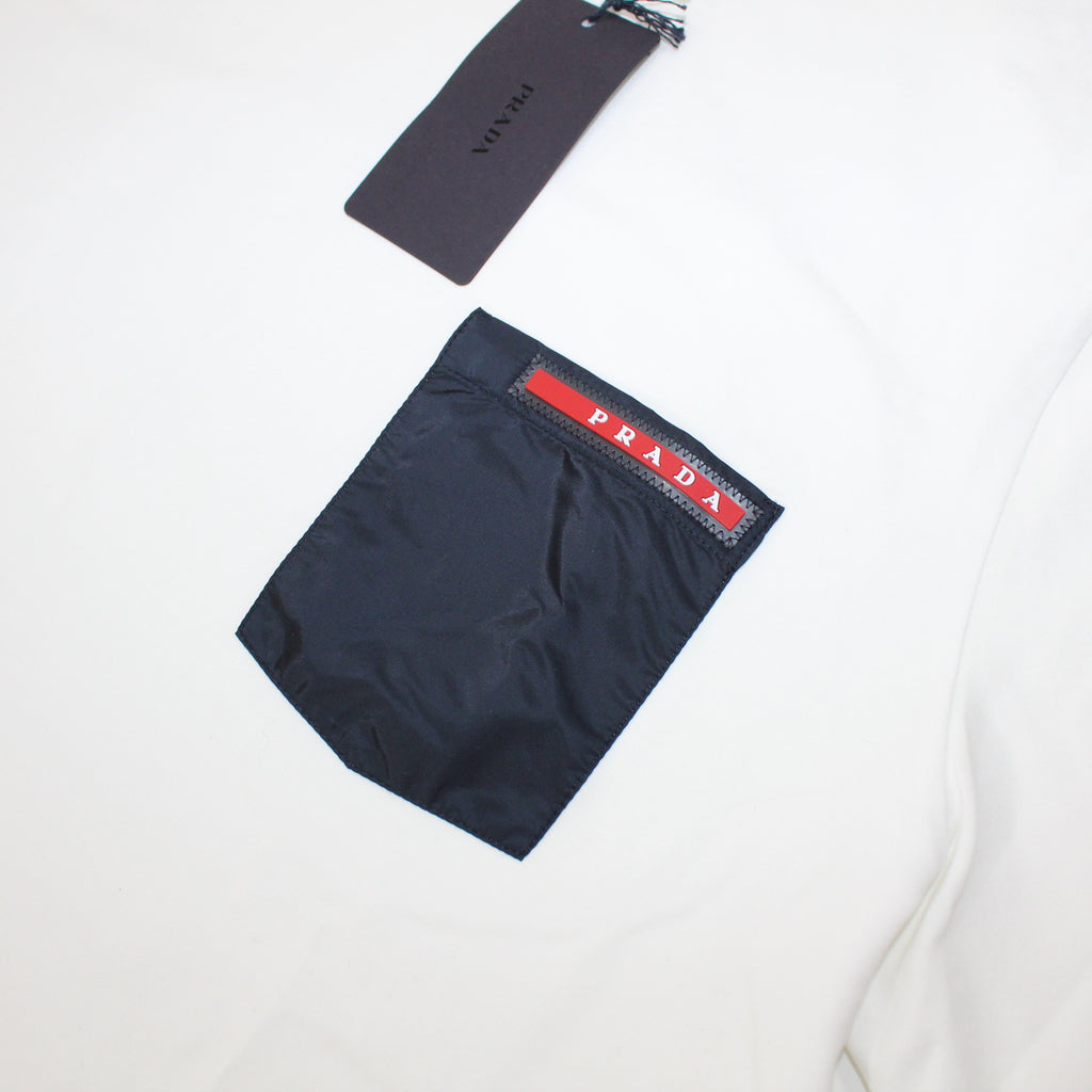 Prada Nylon Pocket T-Shirt White