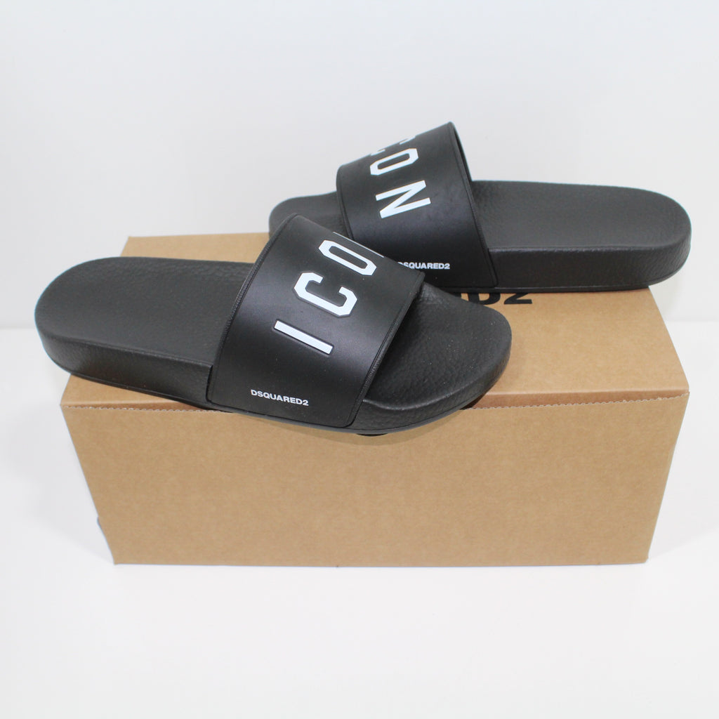 Dsquared2 Black Icon Sliders
