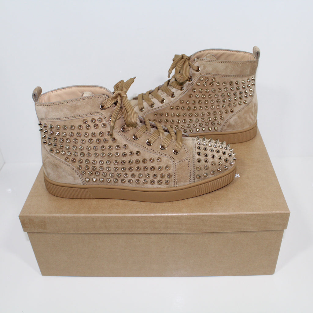 Christian Louboutin Louis Veau Velours Spikes