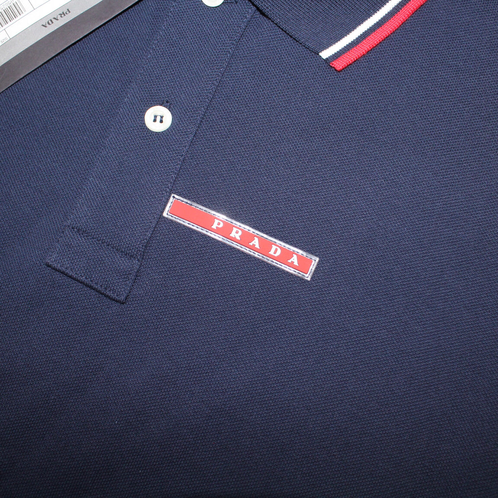 Prada Short Sleeve Polo Navy