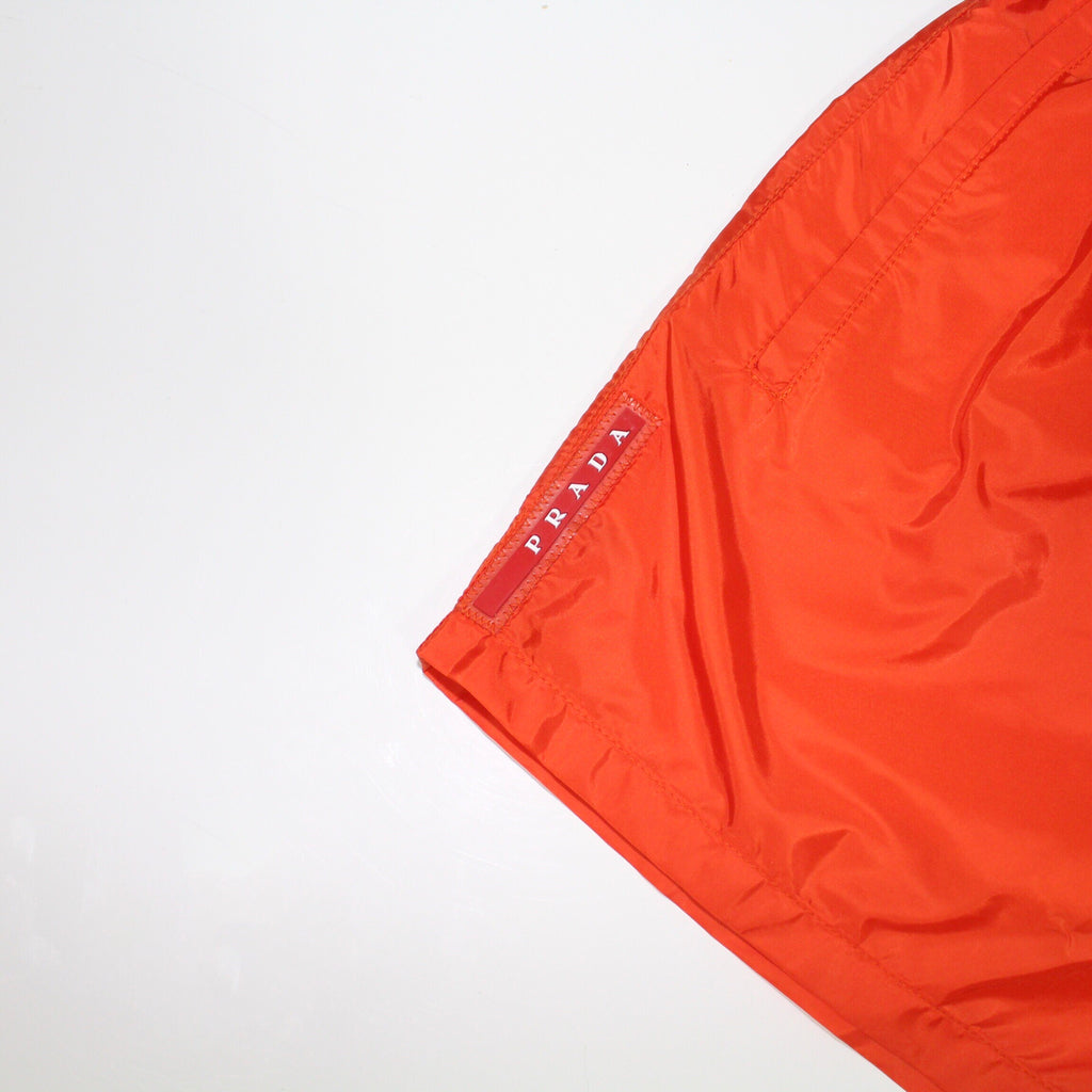Prada Swim Shorts Orange Nylon