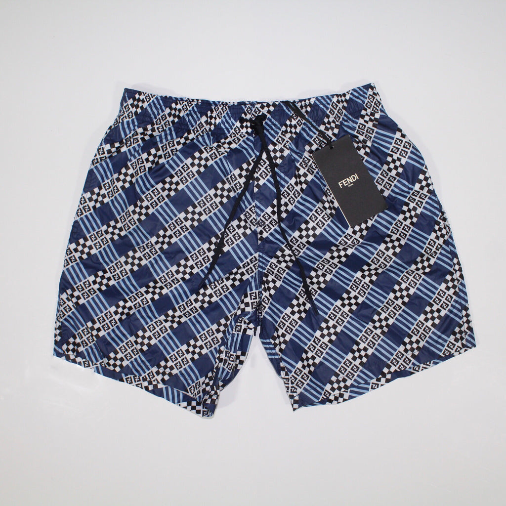 Fendi Check Print Swim Shorts