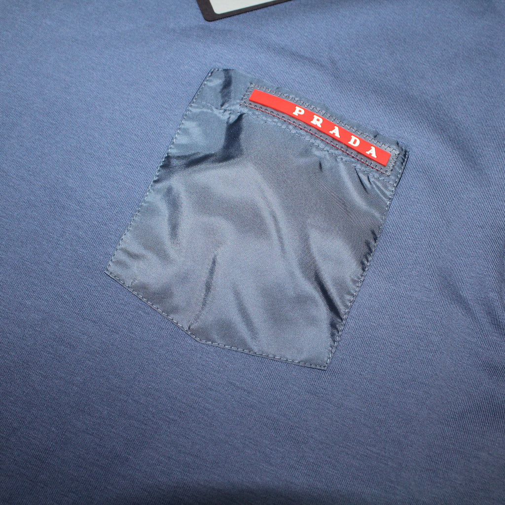 Prada Nylon Pocket T-Shirt Blue