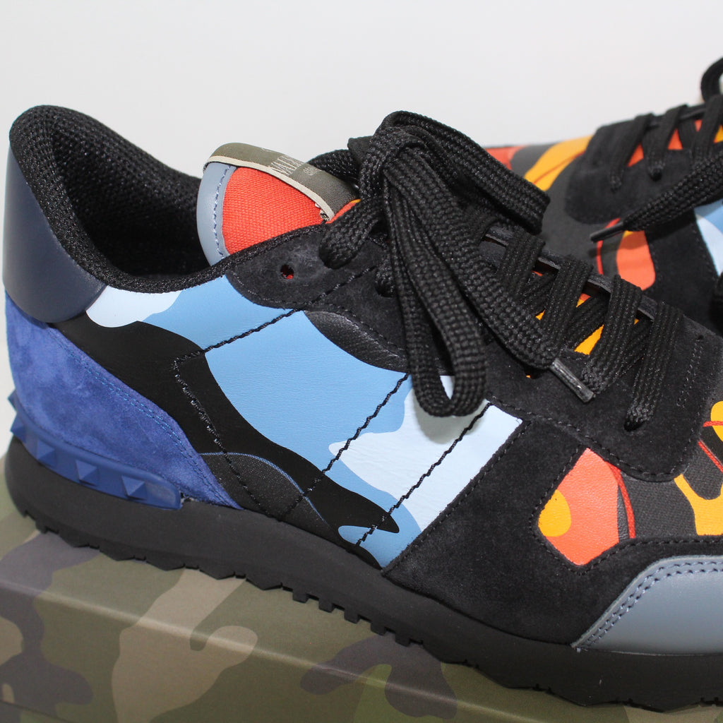 Valentino Rockrunner Trainers Orange & Blue