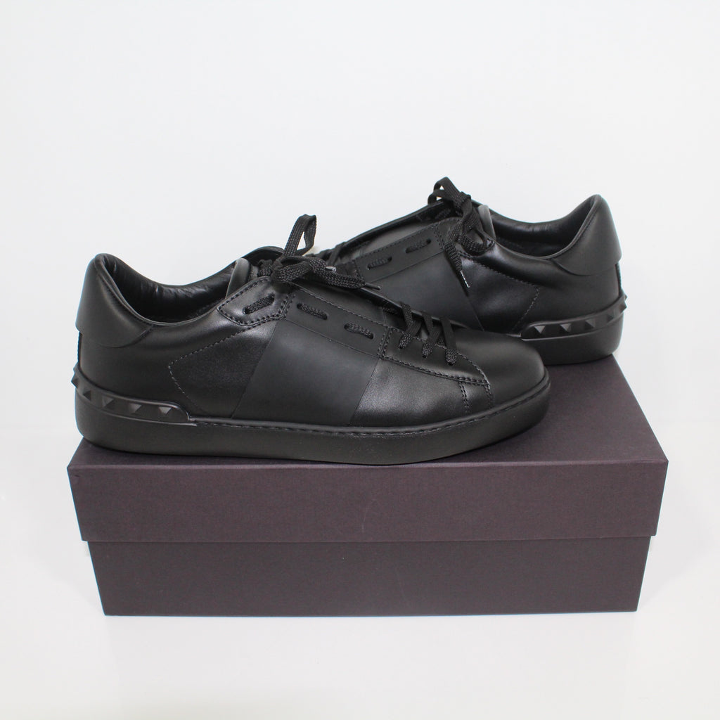 Valentino Open Low Top Trainers Black
