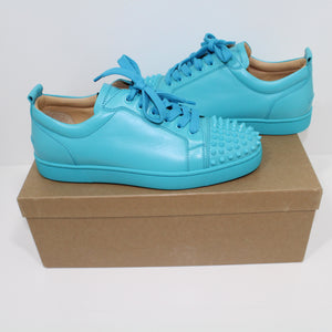 Christian Louboutin Louis Junior Spikes Flat Aqua