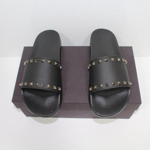 Valentino Rockstud Sliders Black