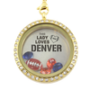 This Lady Loves Denver Football - Locket-World