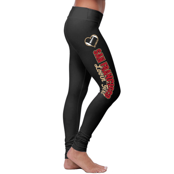 San Francisco Football Loving Girl Leggings