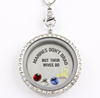 Marine Wives Brag Charm Necklace
