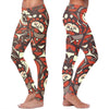 Native Pattern Leggings - Brown and Orange