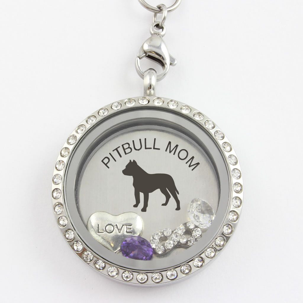 Pitbull Mom - Infinity Love - Charm Locket