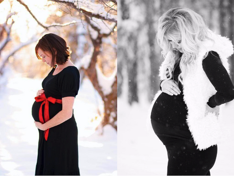maternity photoshoot ideas for holidays