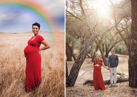 holiday maternity photoshoot