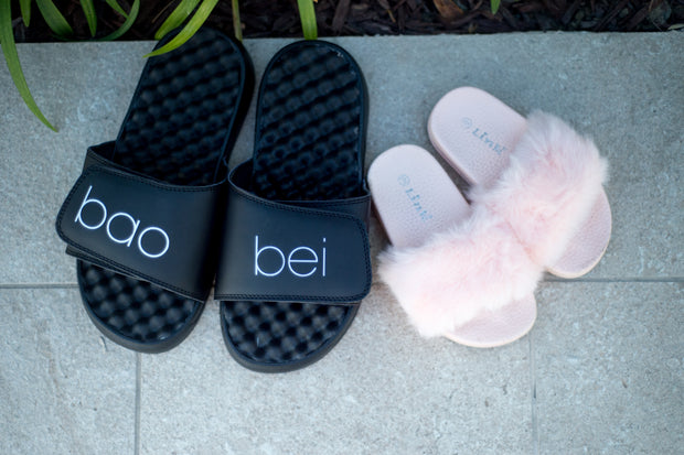 Maternity slipper sandals slides