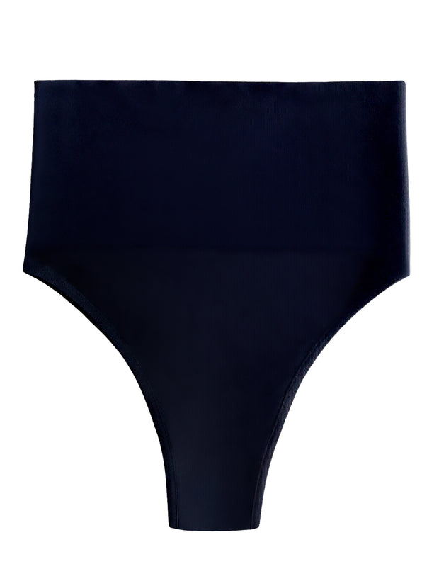 Black high cut high waisted undie