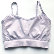 front of lavendar stretchy bralette