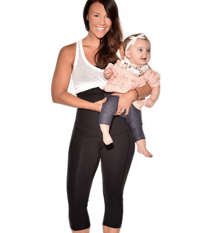 Postpartum high waisted capri yoga pant