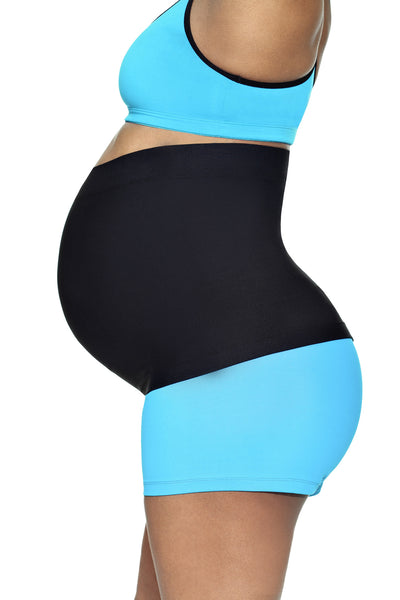 black pregnancy belly support band