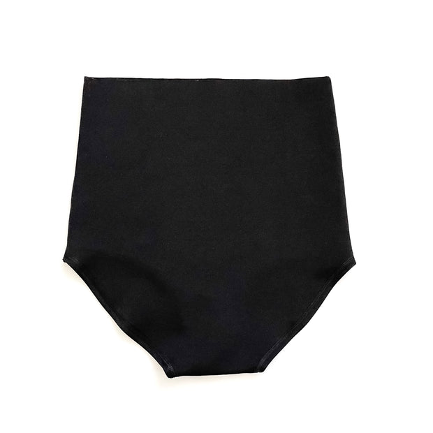 Maternity & Postpartum Bloomers - Raw Cut Black