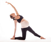 blush maternity belly support band yoga pose