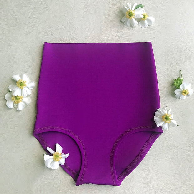 Bloomers High Waisted Postpartum Underwear in Purple